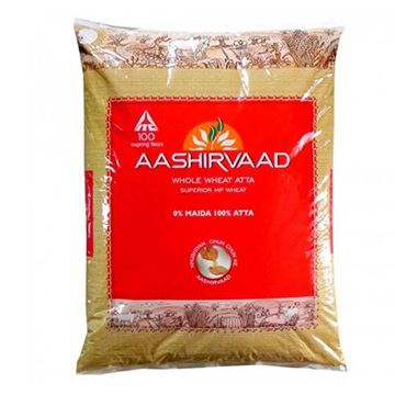 Picture of Aashirvaad Whole Wheat Flour (Atta) Regular
