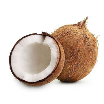 Picture of Fresh Coconut (India) Broken into 2 Halves (No Exchange or Refund for this Product)