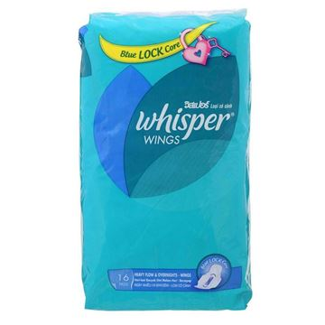 Picture of Whisper Overnight Heavy Flow With Wings Sanitary Napkins