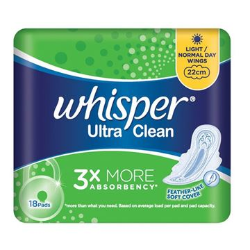 Picture of Whisper Ultra Regular  Flow With Wings Sanitary Napkins 22 Cm