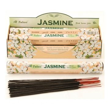 Picture of Tulasi Jasmine Incense Sticks (Agarbathi)