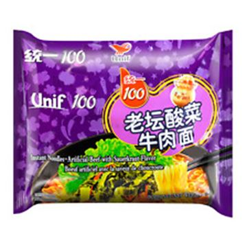 Picture of Unif 100 Instant Noodles With Sauerkraut Beef Flavor