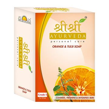 Picture of Sri Sri Ayurveda Orange And Tulsi Soap