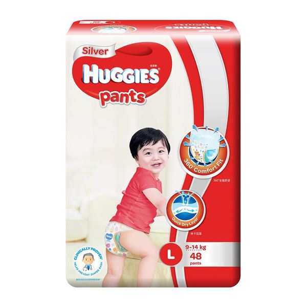 Picture of Huggies Silver Unisex Pant Diapers L