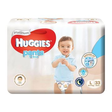 Picture of Huggies Platinum Boys Pant Diapers     L (10  14 Kg)