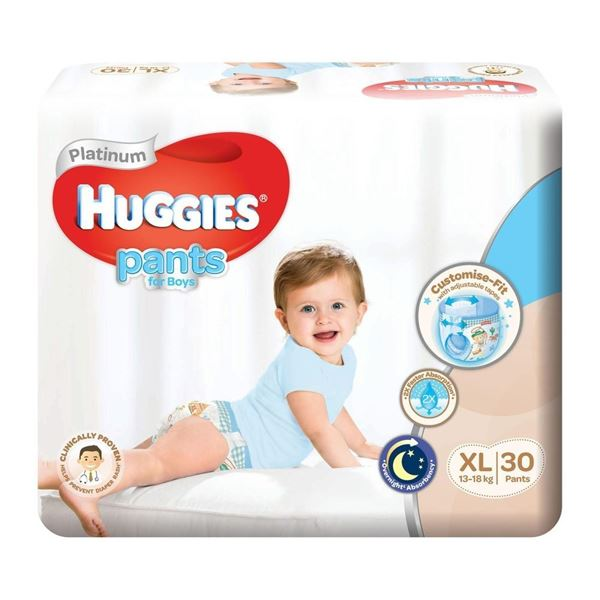 Picture of Huggies Platinum Boys Pant Diapers    XL (13  18Kg)