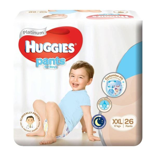 Picture of Huggies Platinum Boys Pant Diapers    XXL (Over 17 Kg)