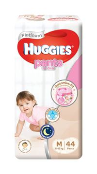 Picture of Huggies Platinum Girls Pant Diapers    M (8  12 Kg)