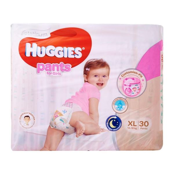 Picture of Huggies Platinum Girls Pant Diapers    XL (13  18 Kg)