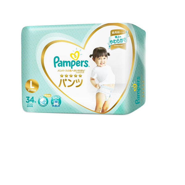 Picture of Pampers Premium Care Silk  Pant Diapers     L (9  14 Kg)