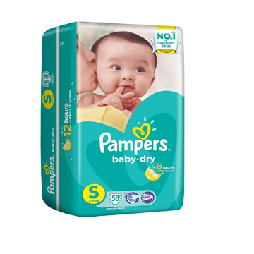 Picture of Pampers Baby Dry Tape Diapers - S (3-8 Kg)