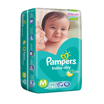 Picture of Pampers Baby Dry Tape Diapers Medium