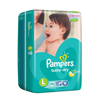 Picture of Pampers Baby Dry Tape Diapers Large