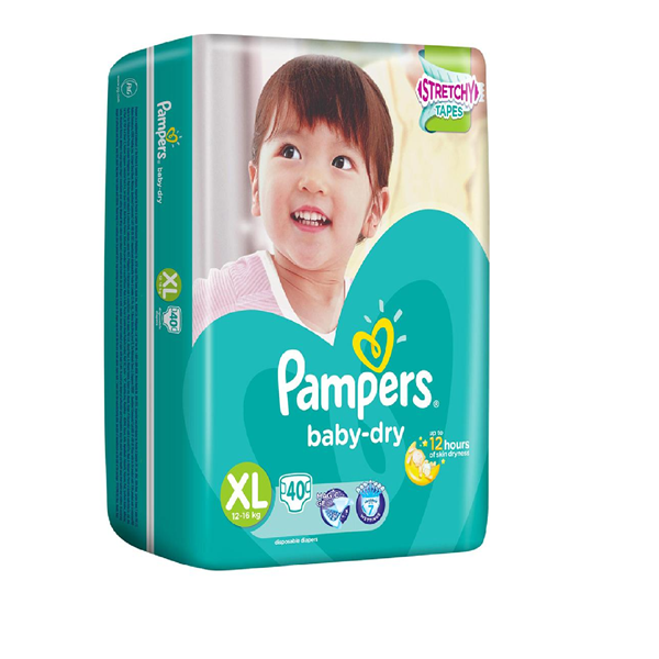 Picture of Pampers Baby Dry Tape Diapers XL