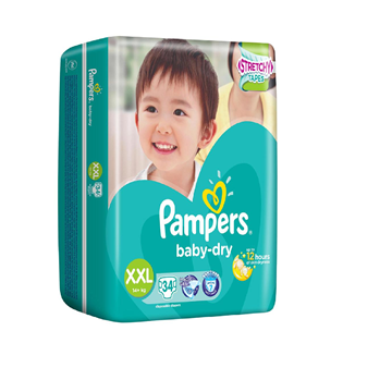Picture of Pampers Baby Dry Tape Diapers - XXL (14+ kg)