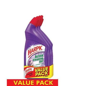 Picture of Harpic Lavender Fresh Active Cleaning Gel Triple Pack