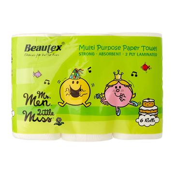 Picture of BEAUTEX  Mr Men and Little Miss Pure Pulp Kitchen Towel
