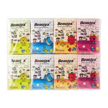 Picture of BEAUTEX  Mr Men And Little Miss Pure Pulp 3ply Pocket Tissue