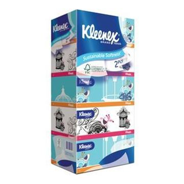 Picture of Kleenex 2 Ply Facial Tissues Classic