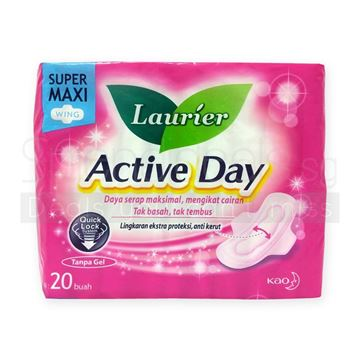 Picture of Laurier Soft Care Active Day Maxi    Wings Sanitary Napkins