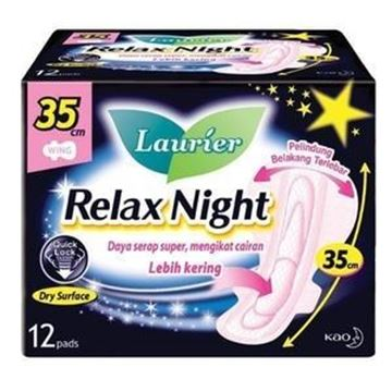 Picture of Laurier Relax Night 35 cm Sanitary Napkins