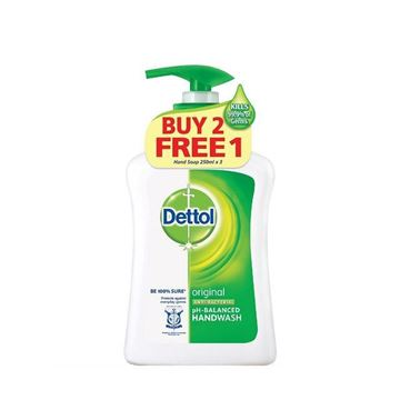 Picture of Dettol Original Anti  Bacterial Hand Wash (Buy 2 Free 1)