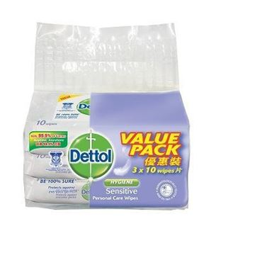 Picture of Dettol Anti Bacterial Sensitive Wet Wipes (Value Pack)