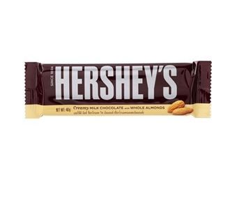 Picture of Hershey's Extra Creamy Milk Chocolate with Whole Almond Bar