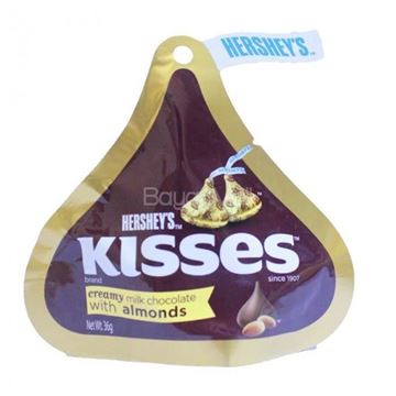 Picture of Hershey's Kisses creamy Milk Chocolate with Almonds