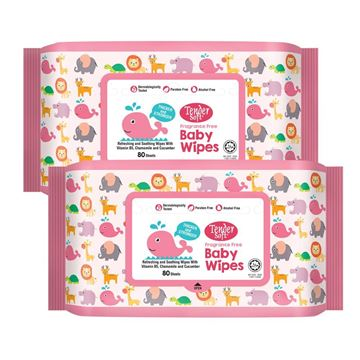 Picture of Tender soft Baby Wipes Fragrance Free