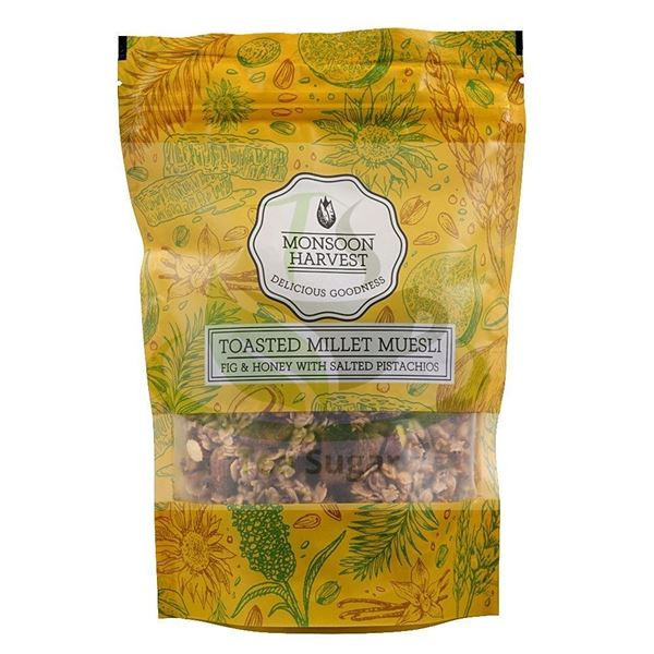 Picture of Monsoon Harvest Muesli Fig Honey & Salted Pistachios (Certified ORGANIC)