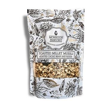 Picture of Monsoon Harvest Muesli Roasted Cacao Bean & Raisins (Certified ORGANIC)