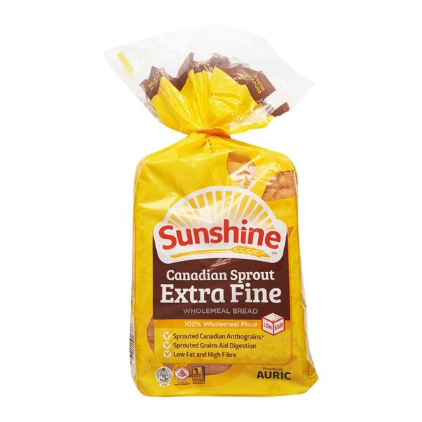Picture of Sunshine Canadian Sprout Extra Fine Wholemeal Bread (Deliver Atleast 1 Day Before It Expires)