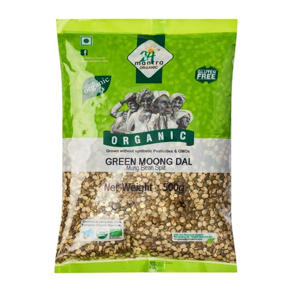 Picture of 24 MANTRA Green Moong Dal Split (Certified ORGANIC)