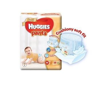 Picture of Huggies Gold Unisex Pant Diapers M (6  12 Kg)