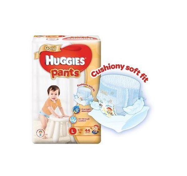 Picture of Huggies Gold Unisex Pant Diapers  L