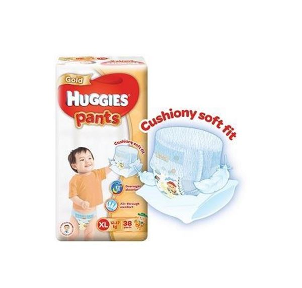 Picture of Huggies Gold Unisex Pant Diapers XL (12  17 Kg)