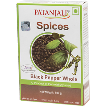 Picture of Patanjali Whole Black Pepper
