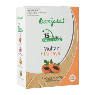 Picture of BANJARA'S 15MFP Multani Mitti Papaya Face Pack