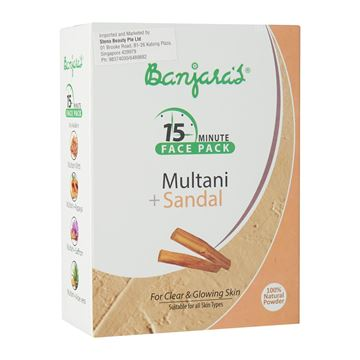Picture of BANJARA'S 15MFP Multani Mitti Sandal Face Pack