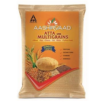 Picture of Aashirvaad  Whole Wheat Flour (Atta) with Multigrains ~ Salt Free