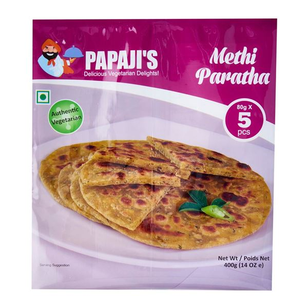 Picture of PAPAJI'S  Methi Paratha  - Frozen
