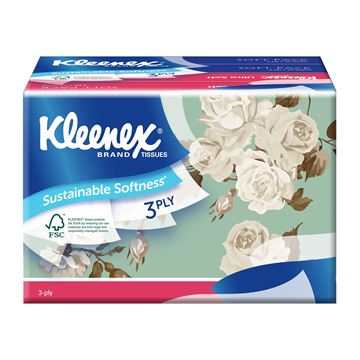 Picture of Kleenex Ultrasoft Tissues Soft Pack    Floral
