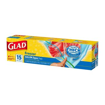 Picture of GLAD Freezer Zipper Bags