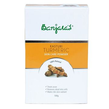 Picture of BANJARA'S  Pure Herb Kasturi Turmeric Skin Care Powder