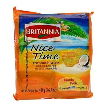 Picture of Britannia Nice Time Coconut Biscuits