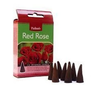 Picture of Tulasi Red Rose Dhoop Cone