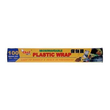 Picture of Chef Microwaveable Plastic Wrap 100 Sqt