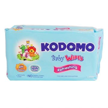 Picture of Kodomo Baby Wipes No Fragrance Refreshing
