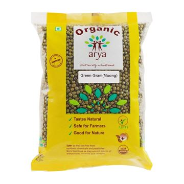 Picture of ARYA FARM Green Moong Dal (Certified ORGANIC)